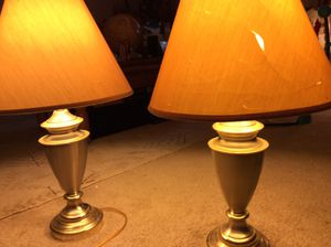 Vintage Gold Lamps for Sale in Upper Marlboro, MD