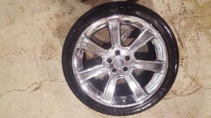 20 inch chrome saleen mustang wheels with Mickey tompson tires for Sale in Arnold, MO