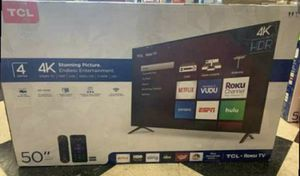 "50"" TCL roku smart 4K led uhd hdr tv for Sale in Pomona, CA"