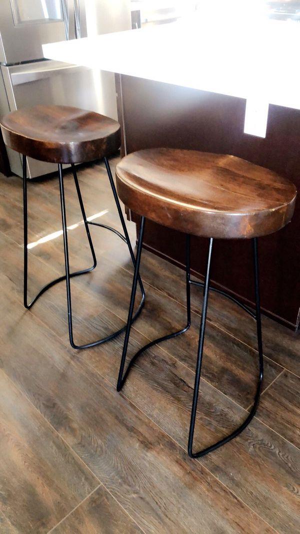 """Wooden 29"""" bar stools."""