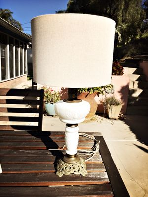 Vintage milk glass lamp for Sale in San Diego, CA