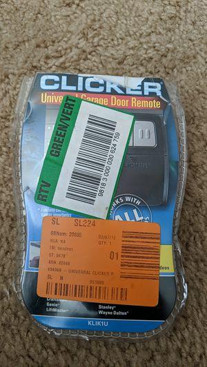 Clicker universal garage door remote for Sale in Austin, TX