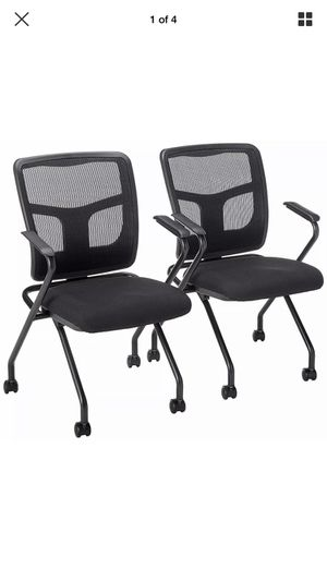 """Lorell Guest Chair 24-2/5""""Wx24""""Dx37""""H - Black 84374 - Office / Home use - 2/Pack for Sale in Willow Grove, PA"""