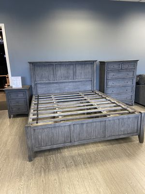 5 Piece Bedroom Set: Full or Queen Bed Frame, Dresser, Mirror & 2 Night Stands $1899 / King Set Available For $1999 / Add A Hi Chest For $699 / Add A for Sale in Vancouver, WA