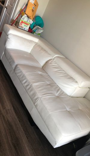 Large White Leather Sectional for Sale in Houston, TX