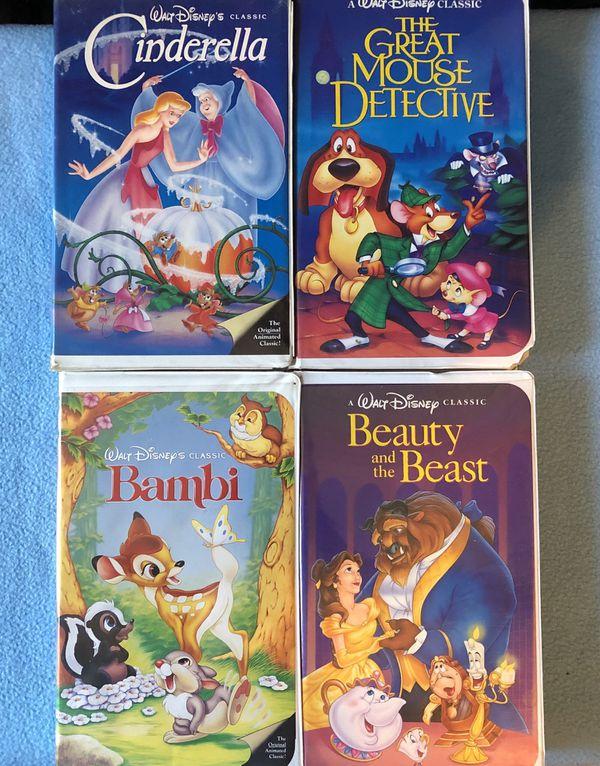 4 Disney Black Diamond Rare Edison VHS Tapes