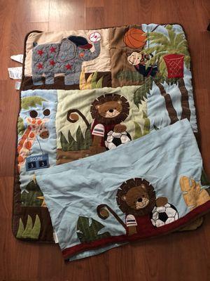 Jungle theme baby crib 6pc set for Sale in Greensboro, NC