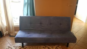 Blue futon- microfiber fabric, lightly used. No pets have been on this, no tears, stains, or broken anything! for Sale in Montpelier, MD