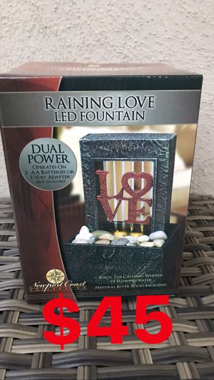 SMALL RAINING 🌧 LOVE ❤️ FOUNTAIN ⛲️ with LED LIGHTS for Sale in Los Angeles, CA