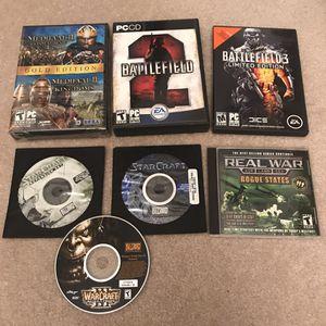 PC computer video games for desktop laptop gaming lot battlefield warcraft starcraft for Sale in Burtonsville, MD