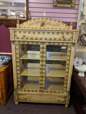 Beautiful contemporary painted china cabinet / hutch / display shelf by Pulaski Furniture Company for Sale in Portland, OR