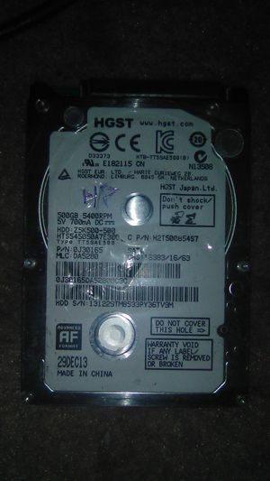 500gb 5400rpm SATA HardDrive for Sale in Nashville, TN