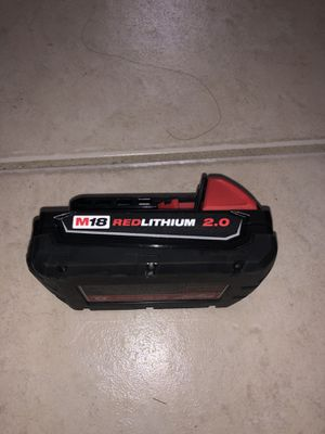 Milwaukee M18 18-Volt Lithium-Ion 2.0 Ah Compact Battery for Sale in Miami, FL
