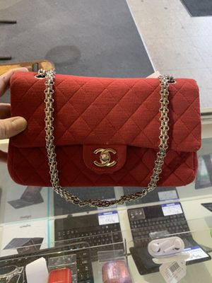 Chanel cotton double flap chain bag $700 for Sale in Houston, TX