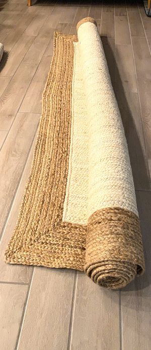 nuLOOM Hand Woven Jute Rug, 8' x 10', White—-BRAND NEW—- for Sale in Peoria, AZ