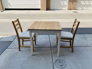 Ikea dining table with 2 chairs for Sale in Dublin, CA