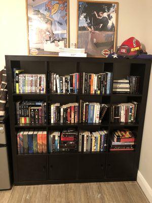 Black IKEA cubed book case / storage shelving unit for Sale in Palm Beach Gardens, FL