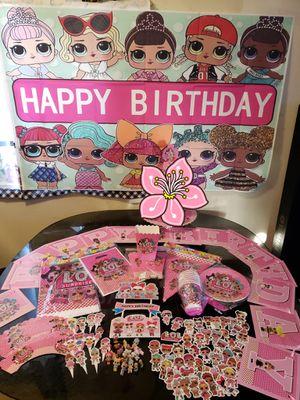 LOL dolls decorations set + Baby shark decorations set for Sale in Bellflower, CA