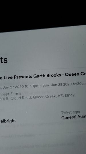 Garth brooks show for tonight for Sale in Apache Junction, AZ