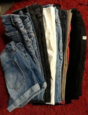 Pile of Size 2 Jean's & Bottoms for Sale in Las Vegas, NV