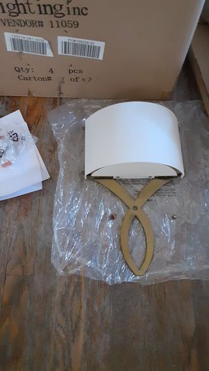 Ashley Lighting Inc light fixture set (4) for Sale in Los Angeles, CA