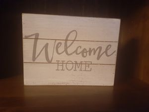WELCOME HOME WOOD SIGN NEW for Sale in Tulare, CA