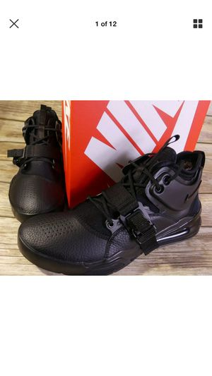 36d9dca22d45 Nike Air Force 270 Triple Black Men s Size 10.5 Lifestyle Shoes AH6772-010  New for