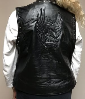 Harley Davidson motorcycle leather vest for Sale in Naperville, IL
