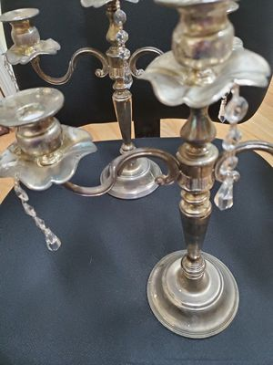 Silver plate candle holders for Sale in Land O Lakes, FL