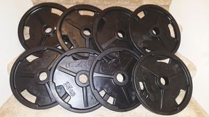 ☆Weights ▪ Ez Grip Rubber Coated Olympic Plates 240lbs (New) for Sale in Waianae, HI