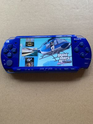 PSP Slim Blue With 5,000+ Games & Movies 👍 for Sale in Fountain Valley, CA