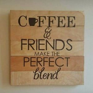 Coffee Wood Pallet Sign for Sale in Dublin, GA