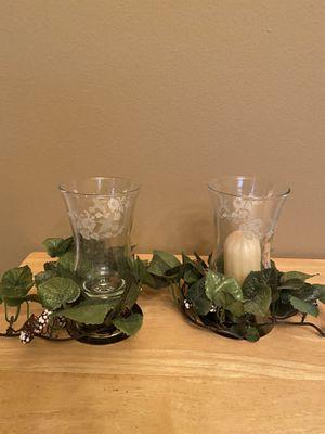 Home Interiors Hummingbird Engraved Votive Holders Set for Sale in Jacksonville, AR