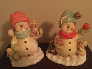 VINTAGE SNOWMAN STATUES PAIR for Sale in Mesa, AZ