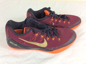 Men's Nike Kobe IX Basketball Shoes Burgundy 646701-678 Size 9.5 2014 for Sale in Severn, MD