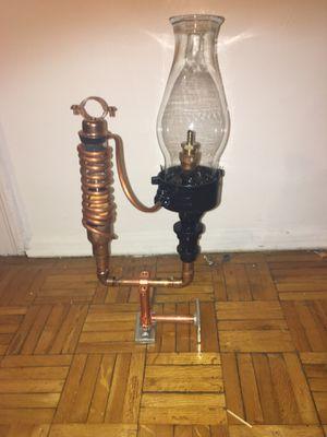 Steam punk oil lamp antique repurposed for Sale in Chicago, IL