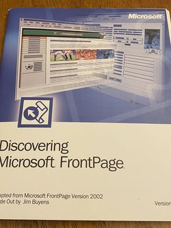 Microsoft FrontPage for Sale in Kent,  WA