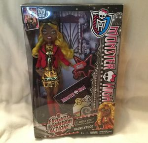 MONSTER HIGH CLAWDIA WOLF FRIGHTS CAMERA ACTION Doll HAUNTLYWOOD 2013 RARE for Sale in Goodlettsville, TN