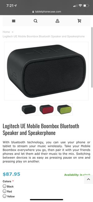 Logitech UE Portable Bluetooth Speaker Boombox for Sale in Fenton, MO