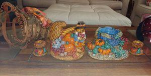 Thanksgiving napkin holder candle holders cornucopia for Sale in Palm Harbor, FL