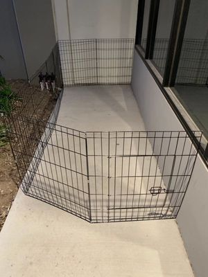 New in box 30 inch tall x 24 inches wide each panel x 8 panels steel wire exercise playpen 16 feet long fence safety gate dog cage crate kennel expan for Sale in Los Angeles, CA