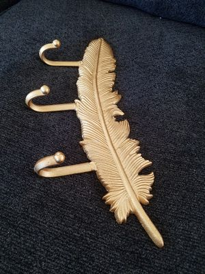 Retro Wrought Iron Key Hook Feather Shaped Coat Hanger Metal Crafts 3 for Sale in Long Beach, CA
