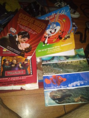 GONE W WIND VTG ILLISTRATED HISTORY OF THE BOOK WB ART ANIMATION BOOK DREAMWORKS ART BOOK for Sale in Newark, OH