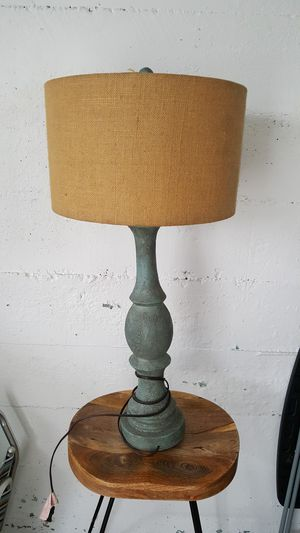 Lamp with burlap shade for Sale in Swampscott, MA