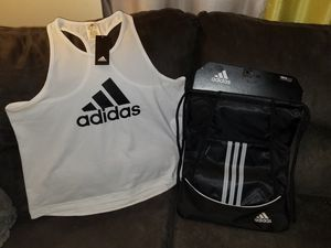 Xlarge Adidas tank and backpack for Sale in Dayton, OH