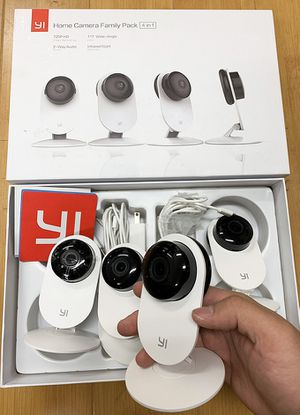 Brand new $90 YI 4pcs Home Camera, 720p Wi-Fi IP (2.4GHz) Security Surveillance Smart System, Night Vision for Sale in Pico Rivera, CA