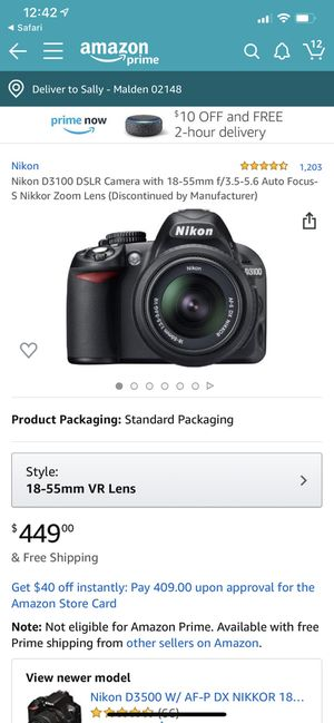 Nikon d3100 with lenses 18-55mm for Sale in Malden, MA