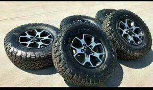 "17"" Jeep Wrangler Rubicon NEW wheels & tires for Sale in Solana Beach, CA"