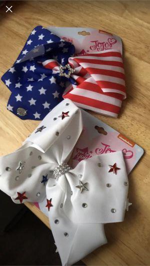 2-patriotic JoJo Siwa genuine bows for Sale in Amanda, OH