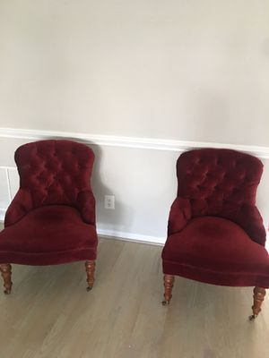 Velvet arm chairs for Sale in Chantilly, VA